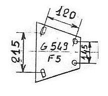 ATTACHE GOETT 549F5 2500  V RA
