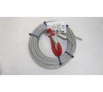 CABLE TREUIL 900KG AVEC CROCHET Longueur 12,5m
