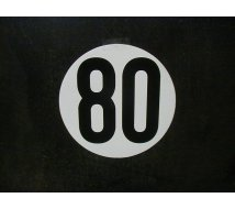 DISQUE LIMITATION VITESSE  80KM/H ADHESIF