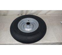 ROUE MONTEE 400X8 RRlx TOLE al 25mm pneu 4 ply ligné brouette